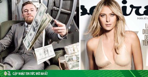 Sharapova giải nghệ vẫn siêu giàu: McGregor kiếm 1.100 tỷ đồng/phút thua xa
