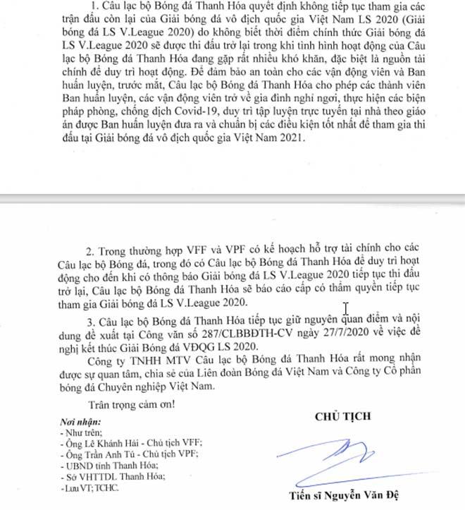 Bầu Đệ lý giải vụ Thanh Hóa định dừng chơi V-League, ngỡ ngàng sự thật - 2