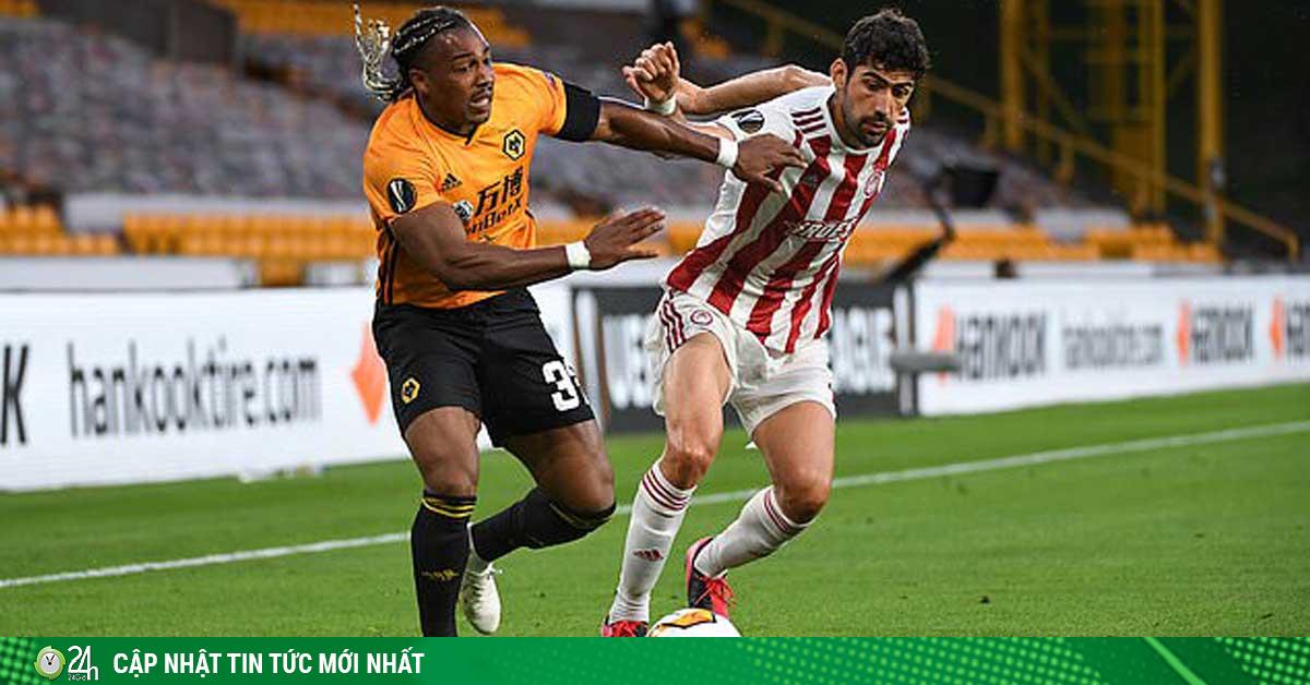 Kết quả bóng đá Europa League Wolves – Olympiakos: Sai lầm đầu trận, tôn vinh người nhện