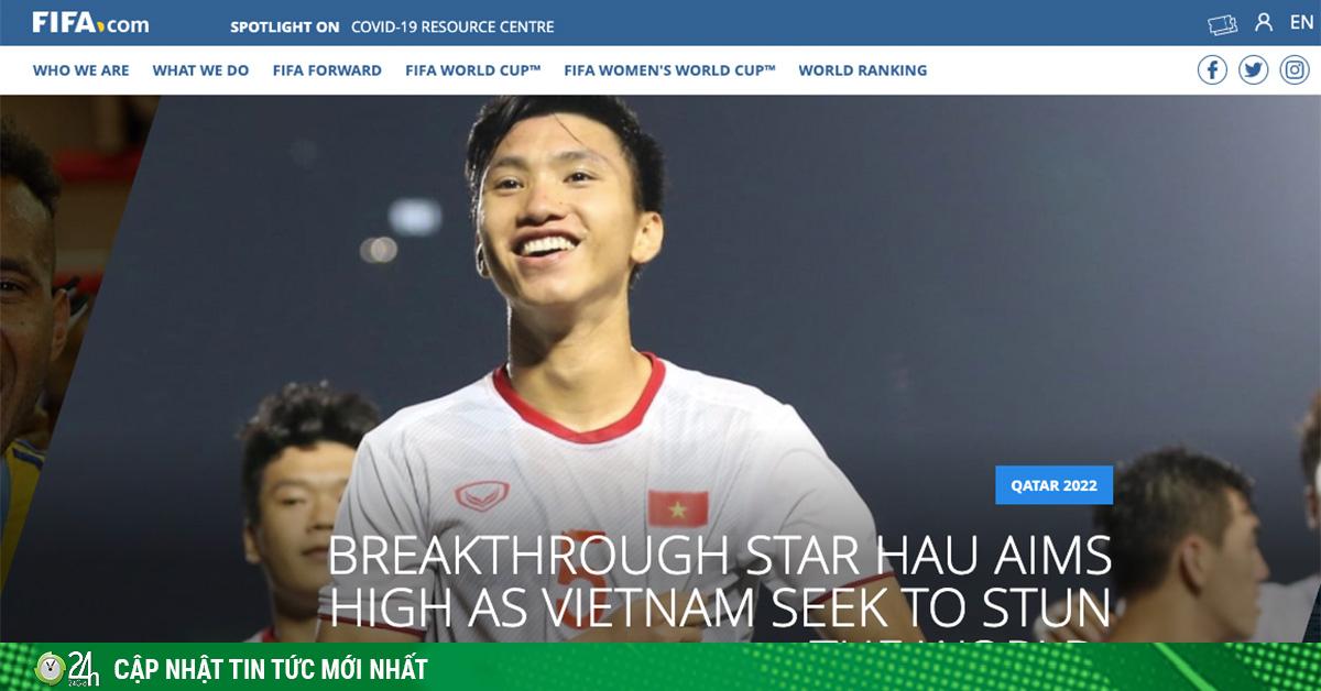 FIFA đưa tin: Văn Hậu muốn cùng ĐT Việt Nam gây choáng thế giới