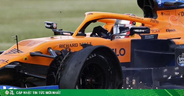Đua xe F1: Hamilton xuất sắc chạy xe 3 bánh & phía sau sự cố nổ lốp