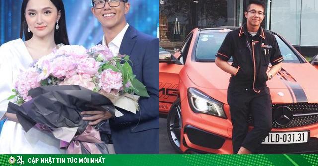 Xôn xao clip doanh nhân Singapore đón hoa hậu Hương Giang bằng xe sang lúc tối muộn
