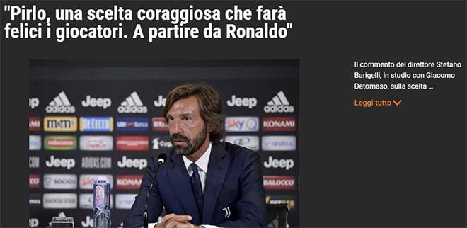 HLV Pirlo vào nghề 9 ngày được Juventus chọn: Báo Ý tiết lộ để chiều Ronaldo? - 2