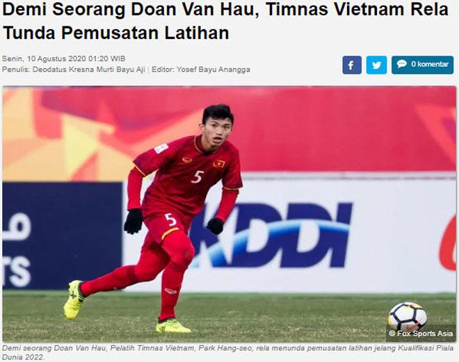 """Báo Indonesia """"cà khịa"""" Văn Hậu: Vẫn cay cú vì pha """"đốn giò"""" ở SEA Games 30? - 2"""