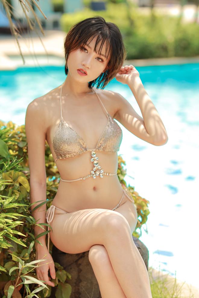 Hoa hậu đầu quân cho VTV cab có thân hình nuột như mẫu áo tắm Nhật