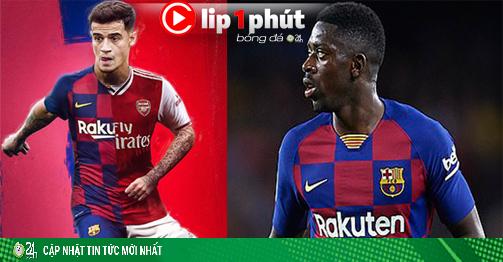 Liverpool và Arsenal chờ nổ bom tấn, MU rước SAO Barca nếu lỡ Sancho (Clip 1 phút Bóng đá 24H)