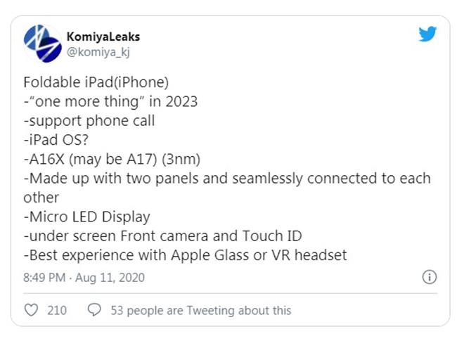 iPhone có màn hình gập lại có gì thú vị hơn Galaxy Fold? - 1