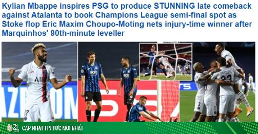 PSG ngược dòng kỳ tích Cúp C1: Báo chí châu Âu ngất ngây vì Neymar - Mbappe