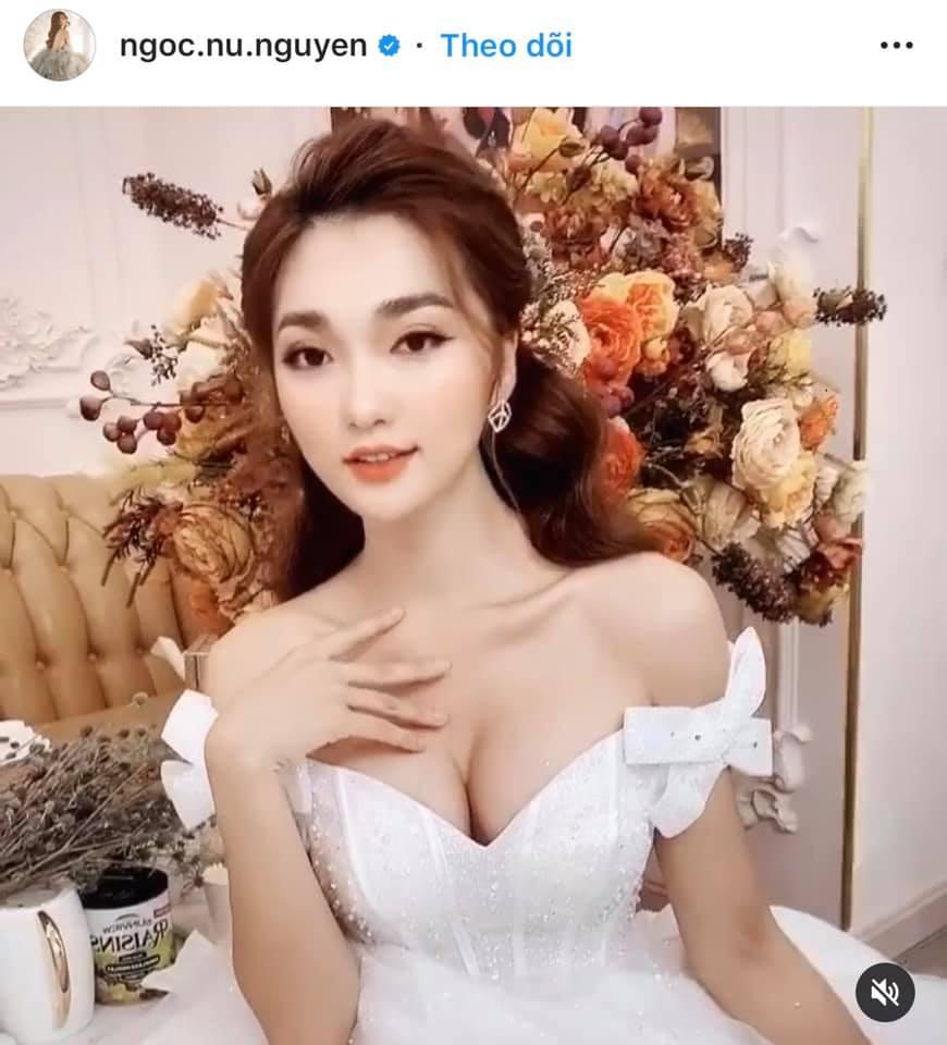 Người đẹp lấn át Trâm Anh khi cùng mặc váy cưới, tôn vòng 1 khủng là ai?