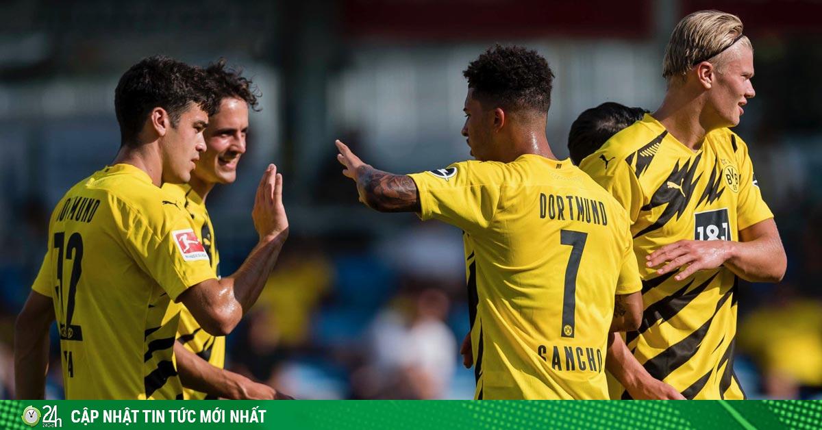 Dortmund thắng giao hữu 6-0: Sancho góp mặt, Haaland rực sáng ghi cú đúp