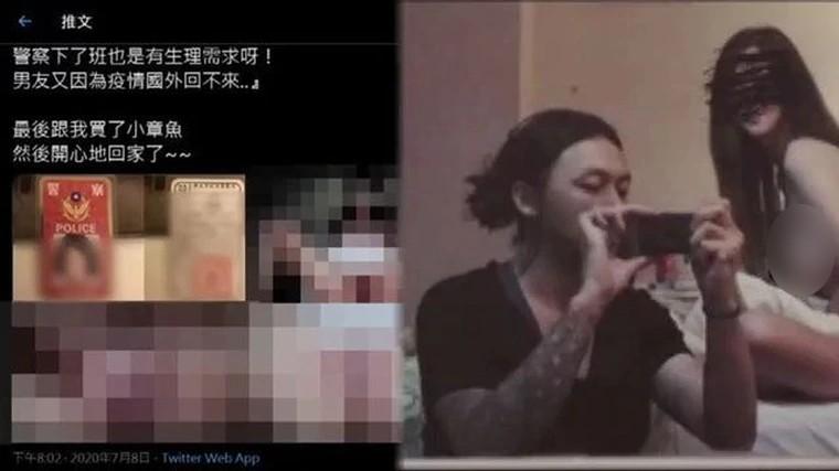 """Đài Loan: Đằng sau bức ảnh """"nữ cảnh sát"""" khỏa thân tham gia tiệc sex"""