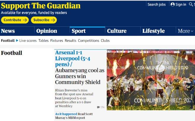 Báo chí Anh ngả mũ Arsenal: Hạ Liverpool, đoạt 2 danh hiệu trong 28 ngày - 2