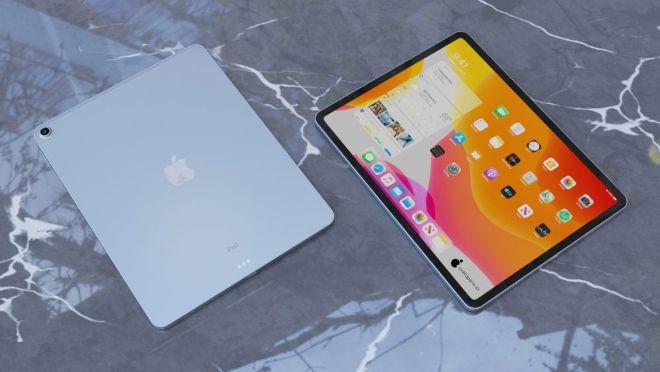 iPad Air 4 đẹp ngỡ ngàng trong dáng hình iPad Pro - 1