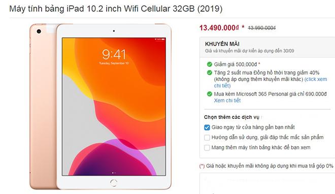Giá iPad 2019 bất ngờ đồng loạt giảm, chuẩn bị cho iPad Air 4 đổ bộ - 2