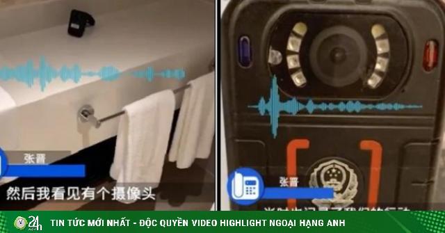 TQ: Cặp đôi phát hiện bị quay lén trong phòng tắm khách...
