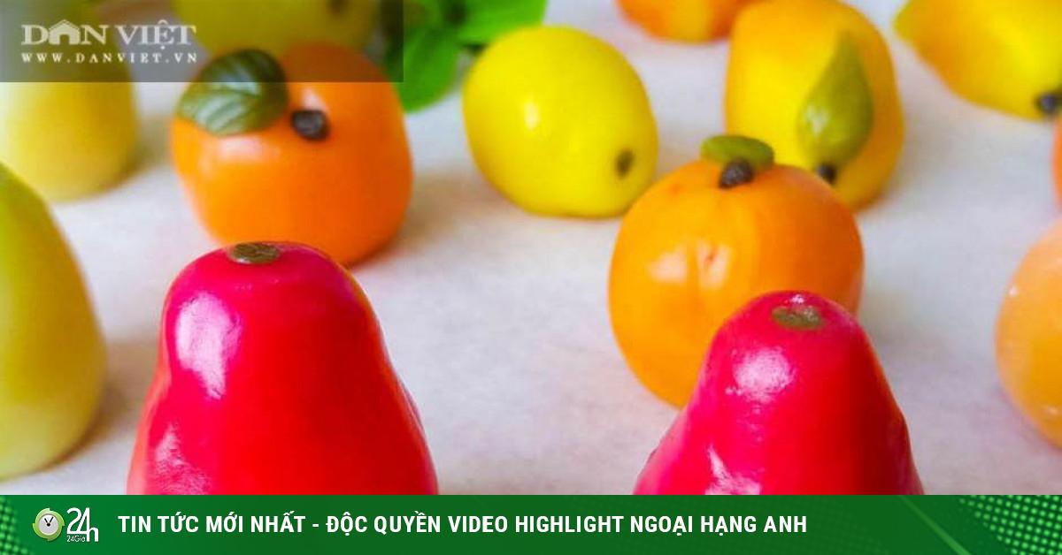 Tự làm bánh trung thu dẻo hình trái cây cực đẹp, nhìn mê, ăn miễn chê