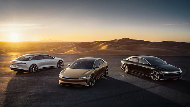 The Lucid Air electric car works nearly 900 km on a single charge, competing strongly with Tesla