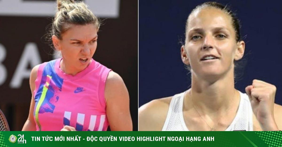 Video tennis Halep – Pliskova: 33 phút quyết định nhà vô địch (Chung kết đơn nữ Rome Masters)