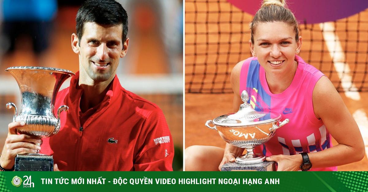 Nực cười tiền thưởng tennis: Đều vô địch, Djokovic hơn Halep...10 euro