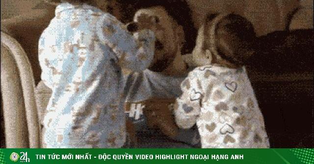 Hú hồn với những pha cứu nguy kịp lúc của các ông bố tay nhanh hơn não