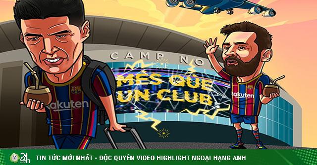 Ảnh chế: Messi ngậm ngùi tiễn bạn thân rời khỏi Barca