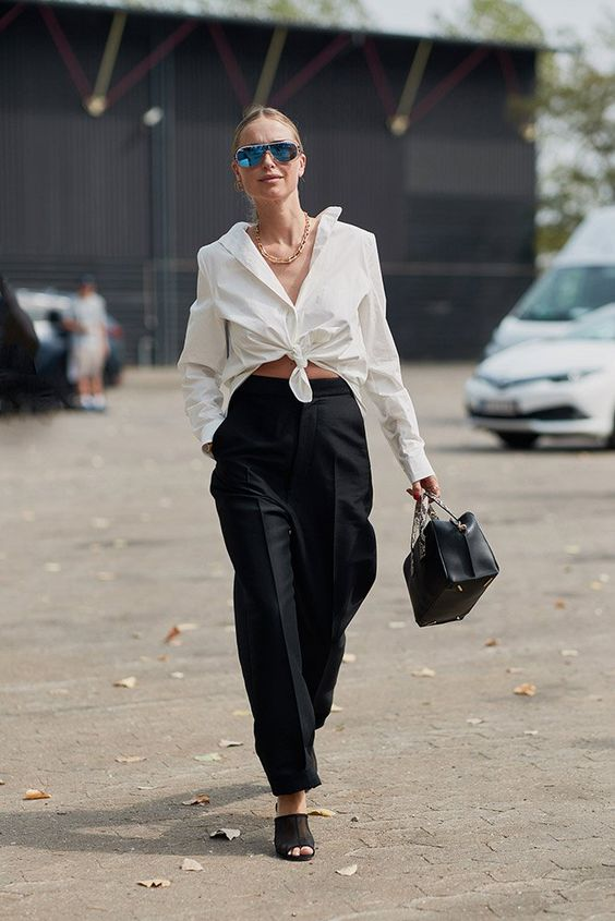 5 kiểu phối với áo sơ mi trắng sành điệu như một fashionista - 9
