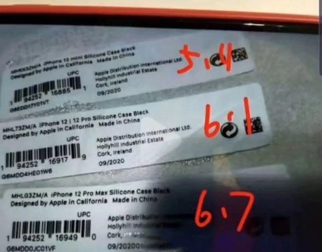 HOT: Tên iPhone 12 mini được xác nhận từ nhãn vỏ iPhone 12 - 1