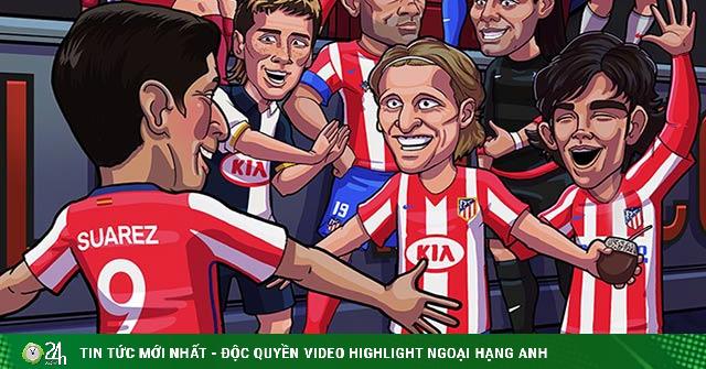 Ảnh chế: Bị Barca xử phũ, Suarez gia nhập Atletico Madrid để báo thù