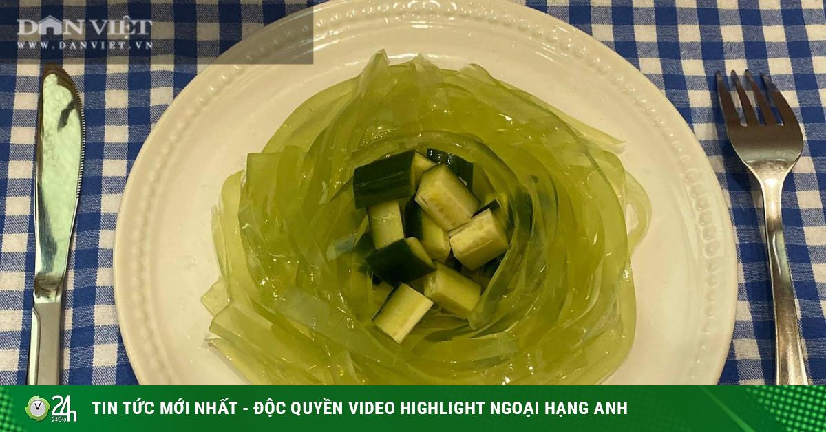Biến tấu với món thạch dưa chuột spaghetti thanh mát, đẹp mắt, bổ dưỡng