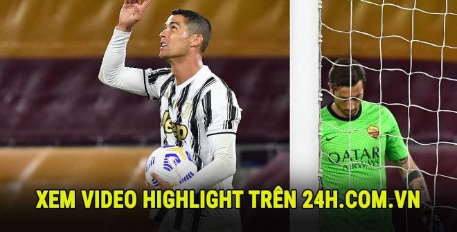 Video highlight trận AS Roma - Juventus: Ronaldo tung hoành, rực rỡ 2 cú đúp