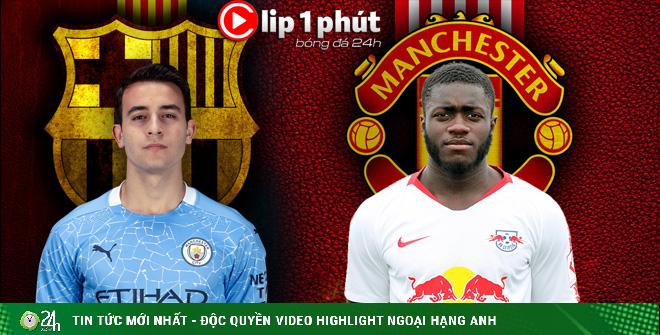 Man City thua sốc bán tội đồ, MU chốt Upamecano đá cặp Maguire (Clip 1 phút bóng đá 24H)