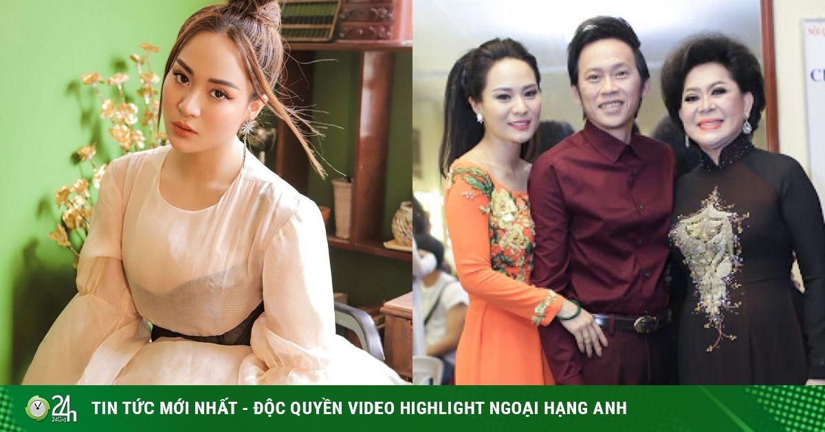 Con gái nuôi Hoài Linh ngừng kể chuyện tình, ân cần chỉnh áo cho bà nội Giao Linh