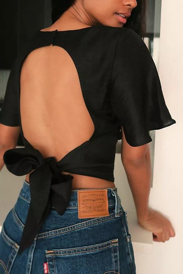 Muôn kiểu áo hở lưng cho nàng khoe nét quyến rũ trong mùa hè này - 2