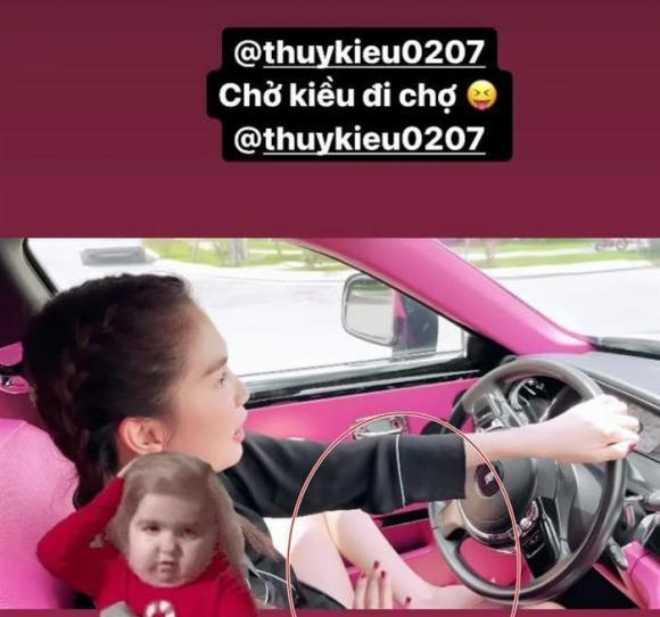 Vợ Lê Dương Bảo Lâm bị chỉ trích vì để con nhỏ ngồi ghế lái ô tô - 3