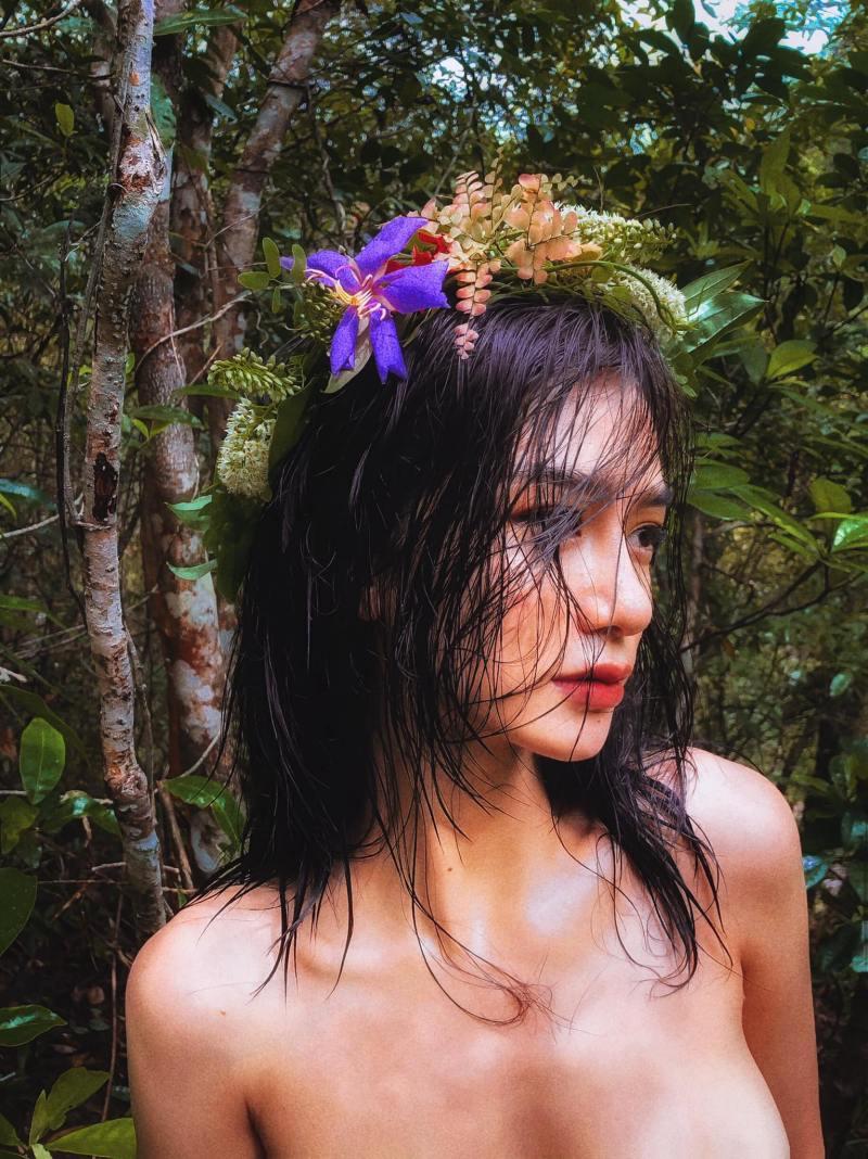 """Ảnh thời trang """"tiên nữ tắm suối"""" của mỹ nữ Quảng Ninh - 3"""
