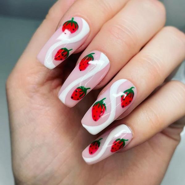Hàng loạt mẫu nail dâu tây mới lạ cho nàng thêm xinh đẹp - 1