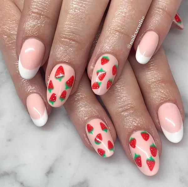 Hàng loạt mẫu nail dâu tây mới lạ cho nàng thêm xinh đẹp - 11