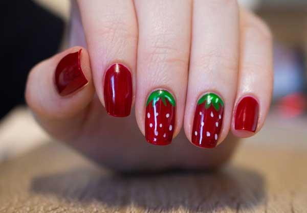 Hàng loạt mẫu nail dâu tây mới lạ cho nàng thêm xinh đẹp - 12