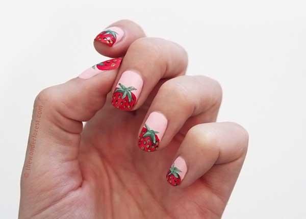 Hàng loạt mẫu nail dâu tây mới lạ cho nàng thêm xinh đẹp - 13