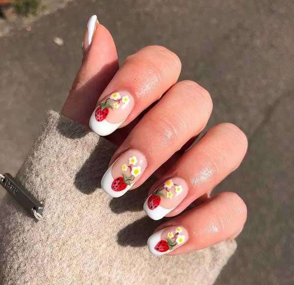 Hàng loạt mẫu nail dâu tây mới lạ cho nàng thêm xinh đẹp - 2
