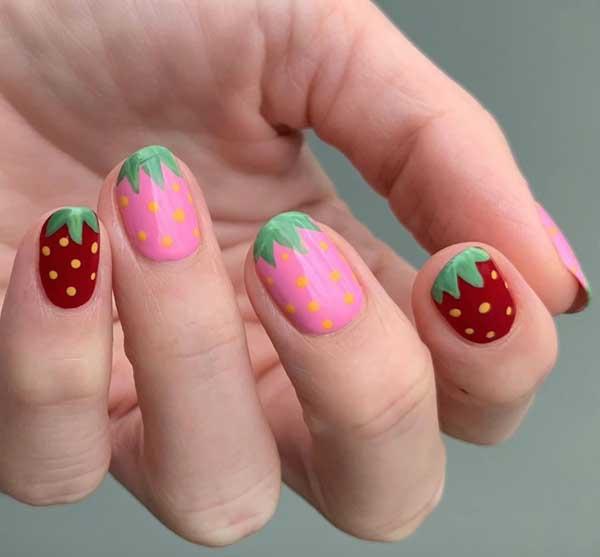 Hàng loạt mẫu nail dâu tây mới lạ cho nàng thêm xinh đẹp - 8