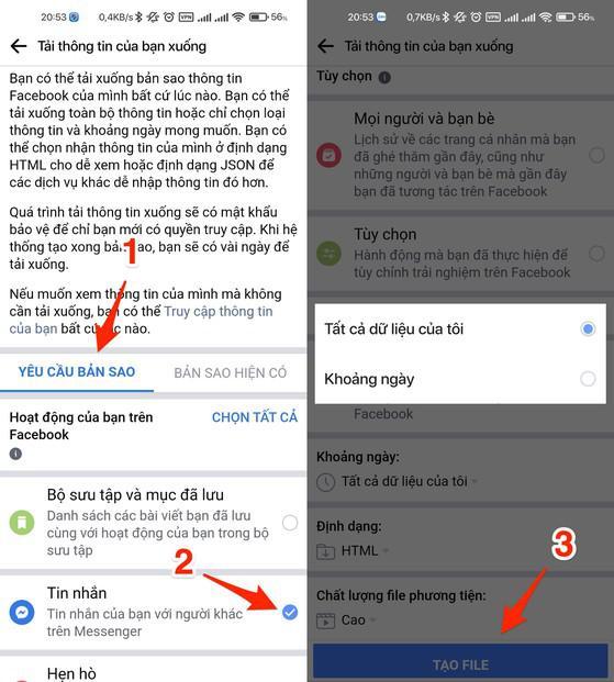 2 cách khôi phục tin nhắn Messenger - 3
