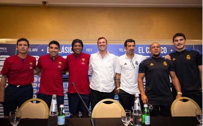 NÓNG đại chiến huyền thoại Barca - Real: Ronaldinho, Rivaldo tái ngộ Figo, Carlos - 2