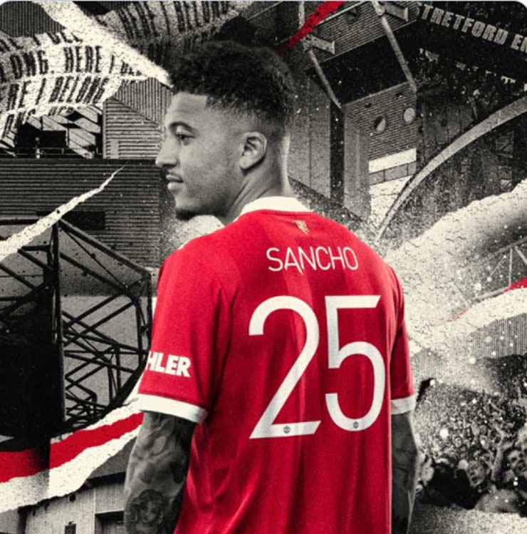 """Sancho không """"cướp"""" áo số 7 của Cavani, triệu fan MU khen cao thượng - 1"""