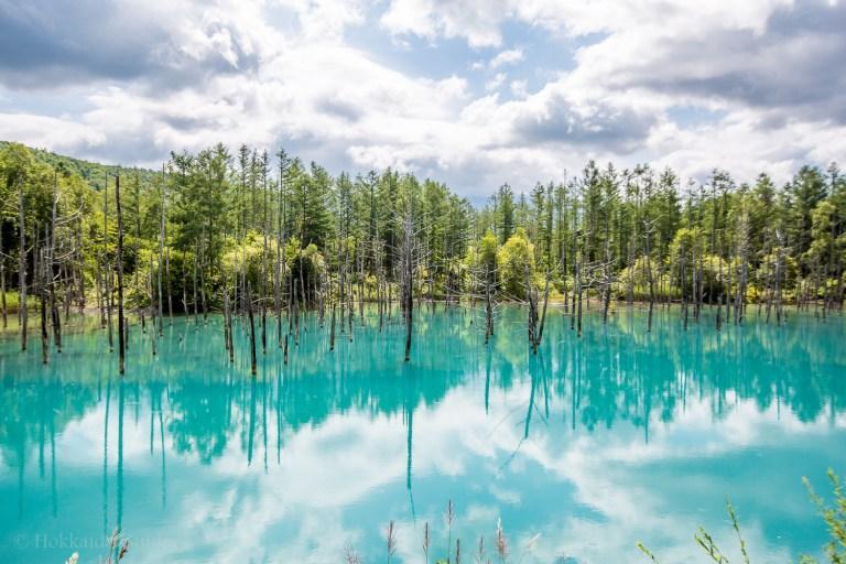 Ngỡ ngàng trước vẻ đẹp của hồ nước có màu xanh sapphire tại Nhật Bản - 1