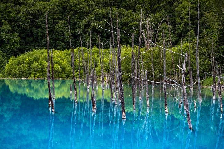 Ngỡ ngàng trước vẻ đẹp của hồ nước có màu xanh sapphire tại Nhật Bản - 4