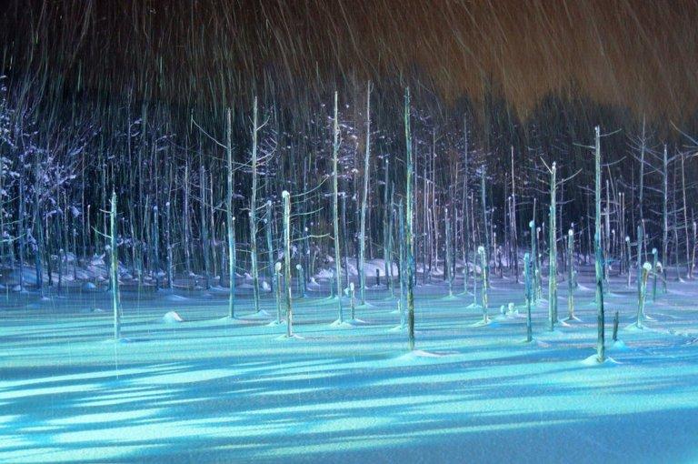 Ngỡ ngàng trước vẻ đẹp của hồ nước có màu xanh sapphire tại Nhật Bản - 6