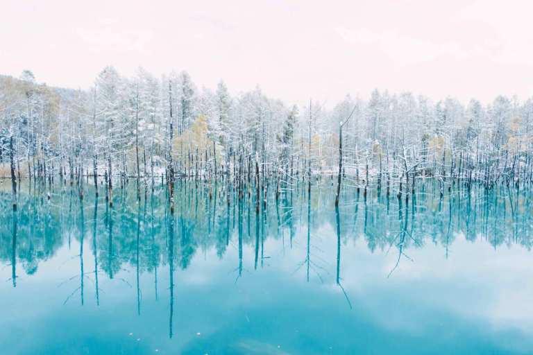 Ngỡ ngàng trước vẻ đẹp của hồ nước có màu xanh sapphire tại Nhật Bản - 7