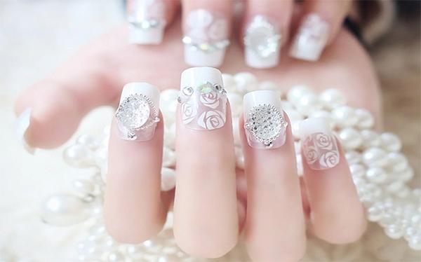 10 mẫu nail cô dâu đẹp đơn giản nhẹ nhàng hiện đại và sang chảnh - 2