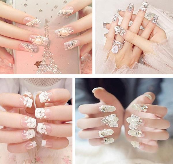 10 mẫu nail cô dâu đẹp đơn giản nhẹ nhàng hiện đại và sang chảnh - 5